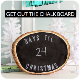 Start a fun chalkboard countdown. Chalkboards are like flames to the hipster moth and they will love this little in-office treat.