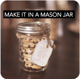 Everything tastes better in a mason jar. Cocktails, nuts, dessert, you name it, put it in a mason jar and your party has just suddenly become cool.