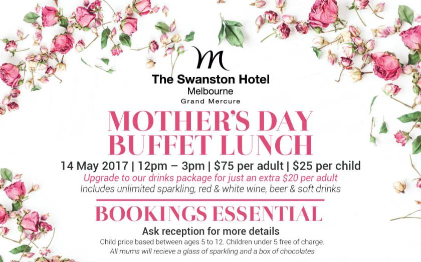 Mother's Day Lunch Buffet Melbourne 2017