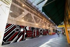 Image of QV Artemis Lane and surrounding graffiti artwork. Photograph by Chris Hopkins