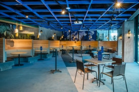 Interiors at Hightail bar and restaruant.