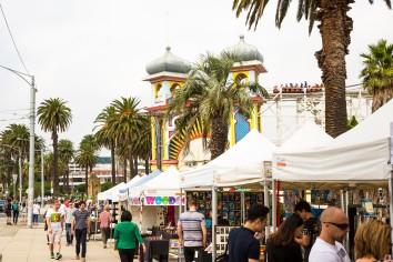 Market stalls at St Kilda Esplanade Market